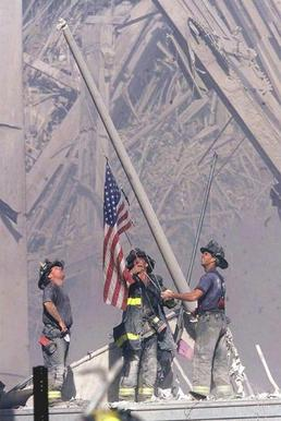 Raising the Flag at Ground Zero