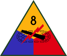 8th US Armored Division Logo