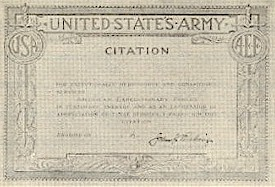 A.E.F. Army Meritorious Service Citation