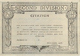 Army Second Division Citation