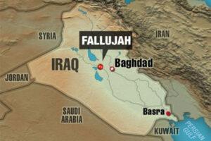 Map of Fallujah, Iraq